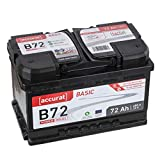 Accurat Autobatterie PowerCell 72Ah B72 Basic 12V...