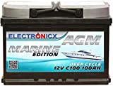 AGM Batterie 100AH Electronicx Marine Edition Boot...
